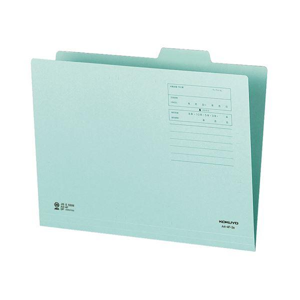(まとめ)コクヨ 1/4カットフォルダー(カラー)A4 第3見出し 青 A4-4F-3B 1セット(10冊)【×10セット】