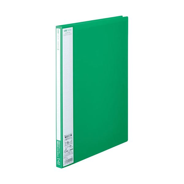 (まとめ)キングジム ユーズナブルクリアーファイル A4タテ 20ポケット 背幅15mm 緑 133USミト 1冊 【×30セット】
