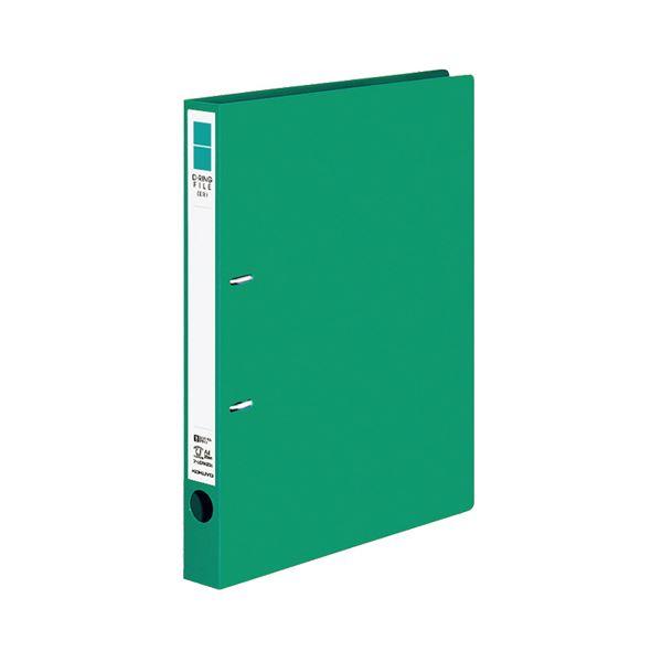 (まとめ) コクヨ Dリングファイル(ER) A4タテ 2穴 200枚収容 背幅34mm 緑 フ-UDR420NG 1冊 【×30セット】