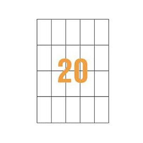 ライオン事務器 PPCタックラベルB4判 51.4×91mm(20片入)PPC-20B 1箱(100シート)