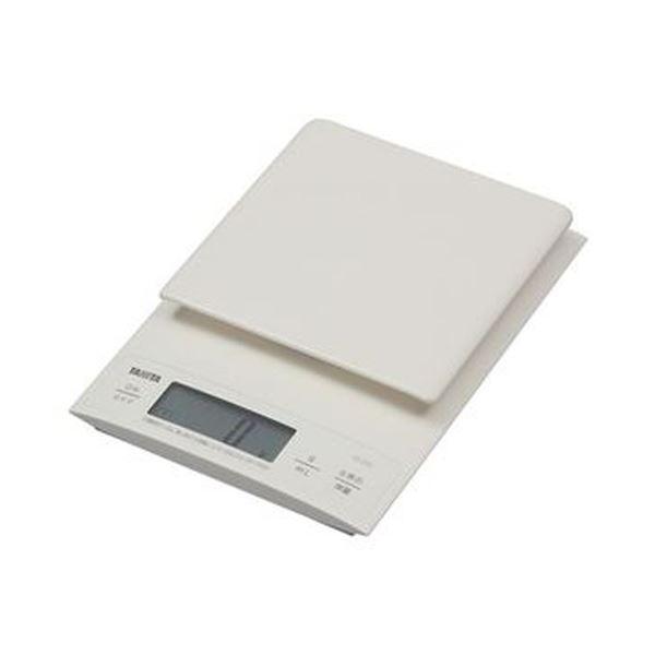 (まとめ)タニタ デジタルクッキングスケール3kg ホワイト KD-320-WH 1台【×3セット】