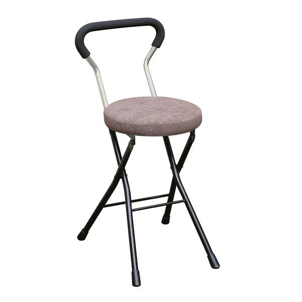 折りたたみ椅子 【4脚セット ブラウン×ブラック】 幅33cm 日本製 スチールパイプ 『ソニッククッションチェア』【代引不可】