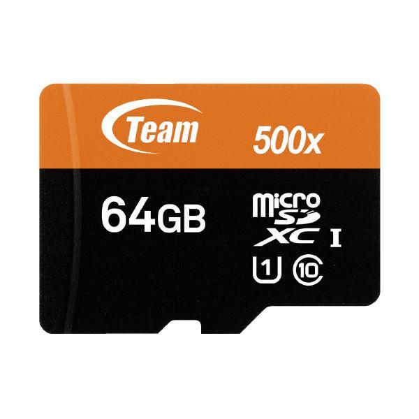 【ポイント10倍】(まとめ)TEAM microSDXCカード 64GB TUSDX64GUHS03(×5セット)
