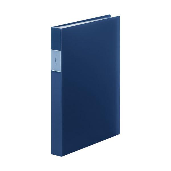 (まとめ) キングジム FAVORITESクリアーファイル(透明) A4タテ 60ポケット 背幅34mm ネイビー FV166-3Tネイ 1冊 【×10セット】