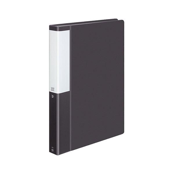 (まとめ) コクヨ クリヤーブック(クリアブック)(POSITY) 固定式 A4タテ 60ポケット 背幅35mm ダークグレー P3ラ-L60NDM 1冊 【×10セット】