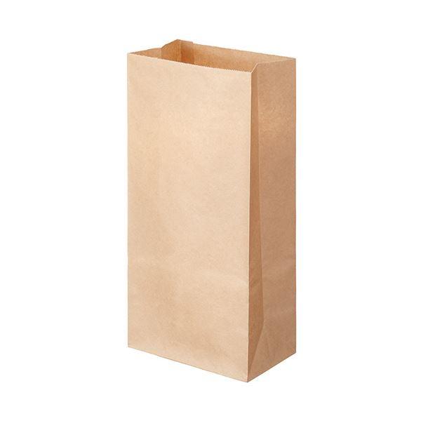 (まとめ) TANOSEE 角底袋 8号ヨコ155×タテ320×マチ幅95mm 未晒 1パック(500枚) 【×10セット】