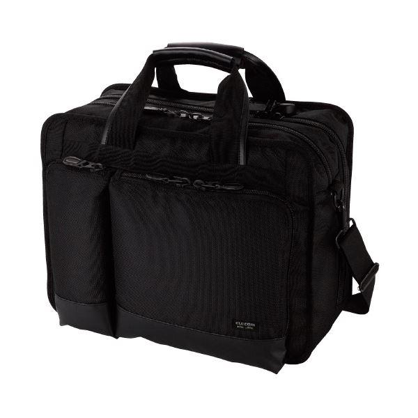 (まとめ)エレコム ビジネスバッグ BM-SE04BK ブラック(×3セット)