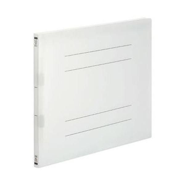 (まとめ)TANOSEE フラットファイル(再生PP)A3ヨコ 150枚収容 背幅18mm クリア 1パック(5冊)【×10セット】