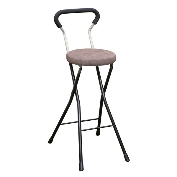 折りたたみ椅子 【4脚セット ブラウン×ブラック】 幅36cm 日本製 スチールパイプ 『ソニッククッションチェア ハイ』【代引不可】