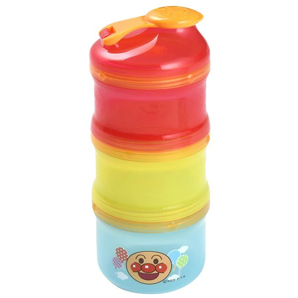 【スーパーSALE限定価格】【アンパンマン】 子供用 粉ミルク 小分けケース/ミルクケース 【95ml×2個 130ml×1個入】 ロート付き 【60個セット】
