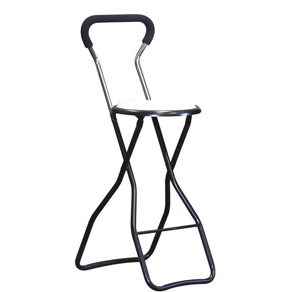 折りたたみ椅子 【4脚セット ホワイト×ブラック】 幅35cm 日本製 スチールパイプ 『ソニックチェア ハイ』【代引不可】