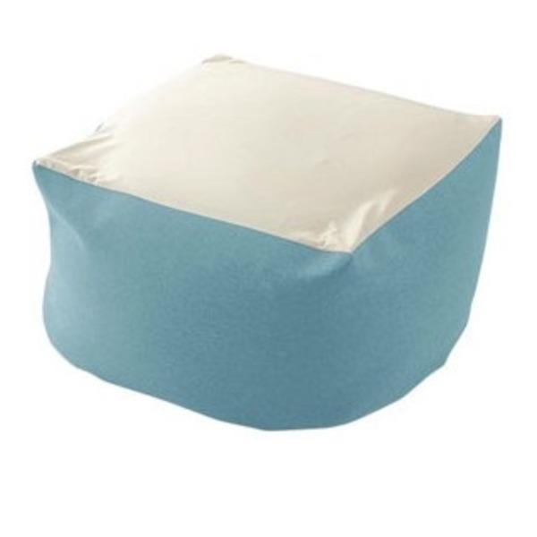カバーリング ビーズクッション/ビッグクッション 【XLサイズ ライトブルー】 洗えるカバー 〔リビング雑貨 生活雑貨〕【代引不可】