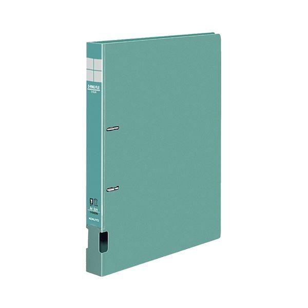 (まとめ) コクヨ DリングファイルS型 再生PP表紙 A4タテ 2穴 200枚収容 背幅34mm 緑 フ-FD420G 1冊 【×30セット】