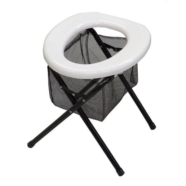 (まとめ) ベンリートイレ/簡易トイレ 【組立式】 スチール 〔災害時 アウトドア 断水時〕 【×6セット】