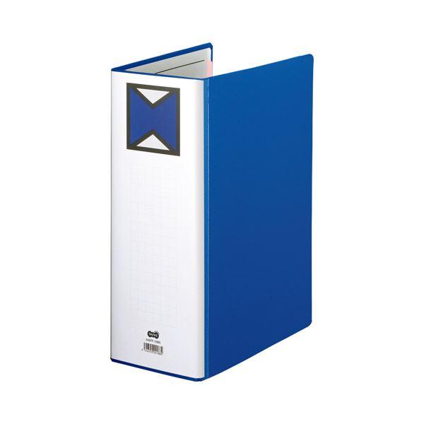 片開き 【×10セット】 A4タテ TANOSEE 1000枚収容 (まとめ) パイプ式ファイル 青 1冊 背幅116mm