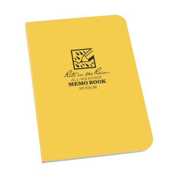 (まとめ) ライトインザレイン ソフトカバーブック横開きタイプ イエロー 374-M 1冊 【×10セット】