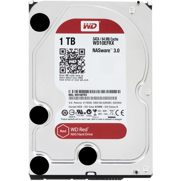 WESTERN DIGITAL WD Redシリーズ 3.5インチ内蔵HDD 1TB SATA6.0Gb/sIntelliPower 64MB