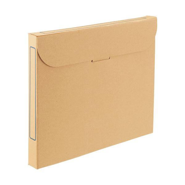 (まとめ)TANOSEE ファイルボックス A4背幅32mm ナチュラル 1セット(50冊:5冊×10パック)【×3セット】