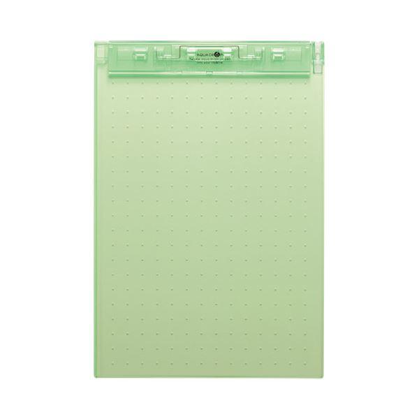 (まとめ)LIHITLAB 超薄型クリップボードA4E 黄緑 A-5067-6【×50セット】