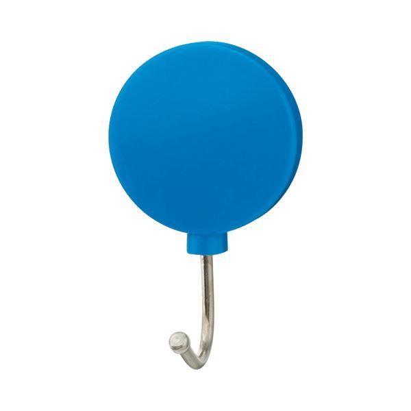 (まとめ) TANOSEE カラーマグネットフック スイング 耐荷重約1kg 青 1個 【×100セット】