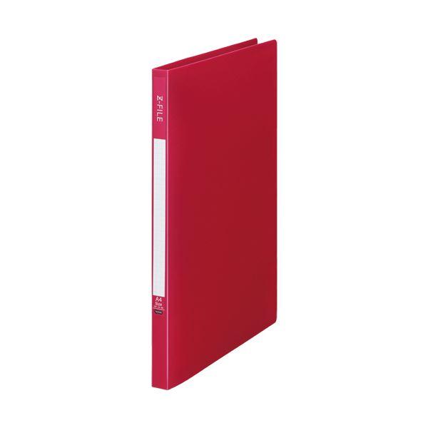 (まとめ)TANOSEE Zファイル(再生PP表紙)A4タテ 100枚収容 背幅17mm バーガンディ 1セット(10冊)【×5セット】