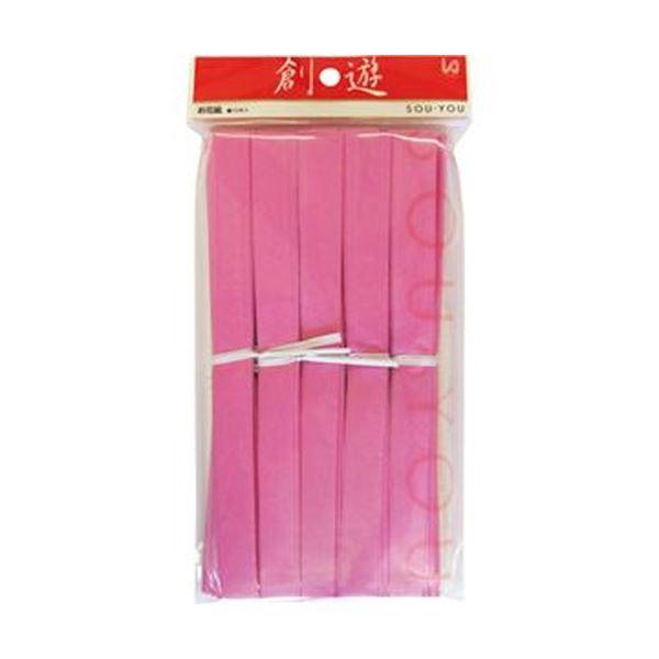 (まとめ)今村紙工 おはながみ 10枚折加工済 桃OH-405 1パック(10本)【×50セット】