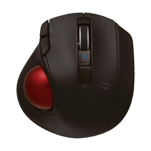 ナカバヤシ小型Bluetooth静音5ボタン トラックボール ブラック MUS-TBLF134BK 1個