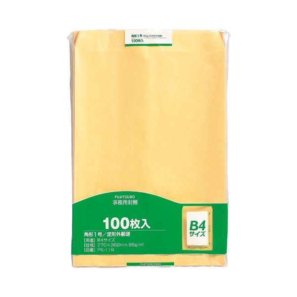 (まとめ) マルアイ 事務用封筒 PK-118 角1 100枚【×5セット】