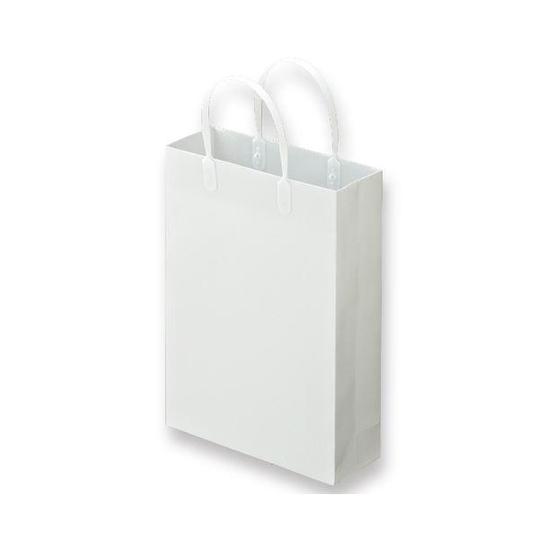 (まとめ) TANOSEE ラミネートバッグ 小 ヨコ225×タテ310×マチ幅80mm 白 1パック(10枚) 【×10セット】