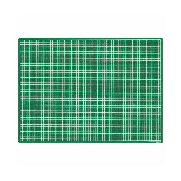 (まとめ)ライオン事務器 カッティングマット再生オレフィン製 両面使用 620×450×3mm グリーン CM-60S 1枚【×3セット】