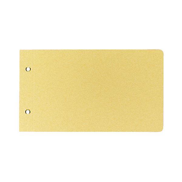 (まとめ) コクヨ 綴込表紙C クラフトタイプ振替伝票サイズ 2穴 ツ-76 1セット(20組40枚:1組2枚×20パック) 【×10セット】
