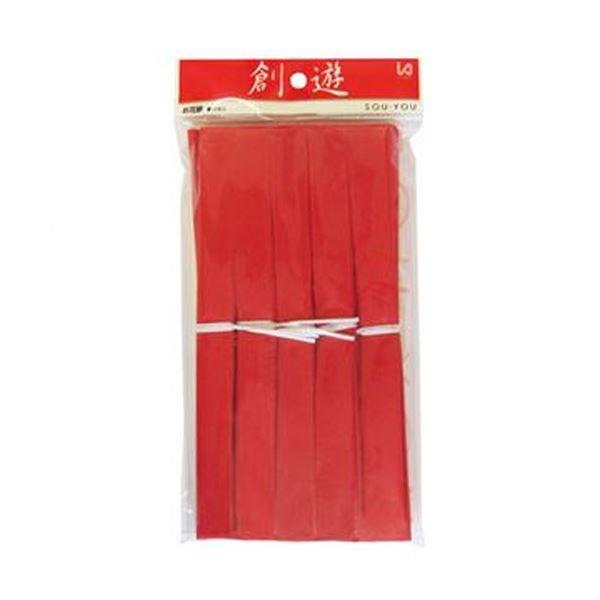 (まとめ)今村紙工 おはながみ 10枚折加工済 赤OH-402 1パック(10本)【×50セット】
