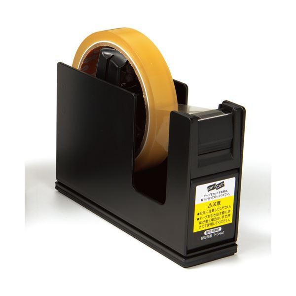 (まとめ) コクヨ テープカッターカルカット(スチールタイプ) 大巻・小巻両用 黒 T-SM111D 1台 【×10セット】