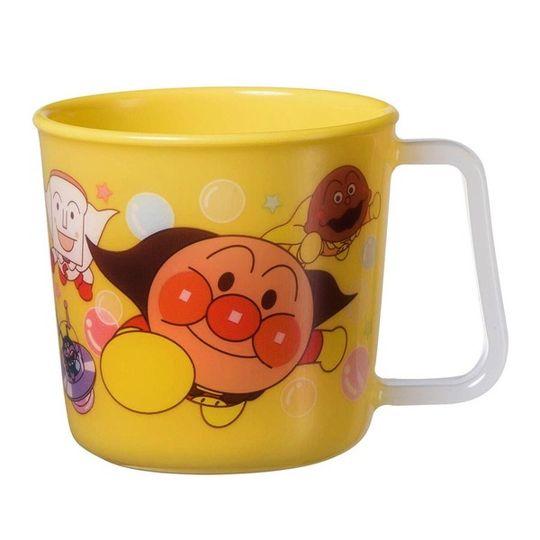 【アンパンマン】 子供用 マグカップ/コップ 【イエロー 約210ml】 洗える プラスチック 【120個セット】