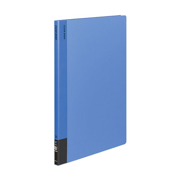 コクヨ クリヤーブック(固定式)B4タテ 20ポケット 背幅18mm 青 ラ-564NB 1セット(8冊)