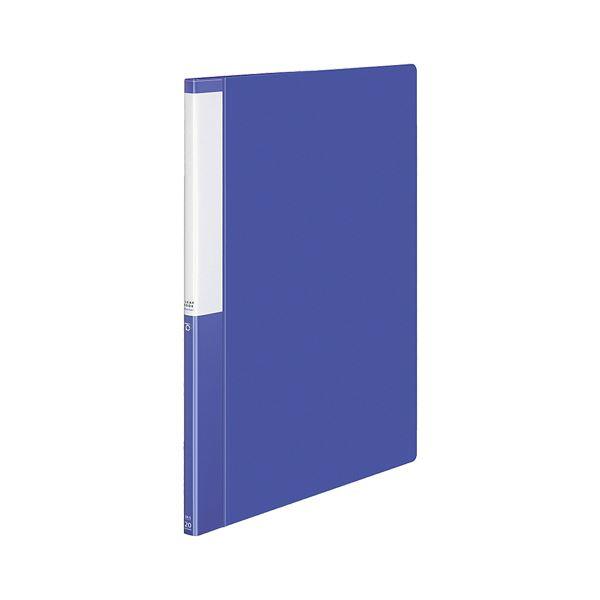 (まとめ) コクヨ クリヤーブック(クリアブック)(POSITY) 固定式 B4タテ 20ポケット 背幅15mm ブルー P3ラ-L24NB 1冊 【×30セット】