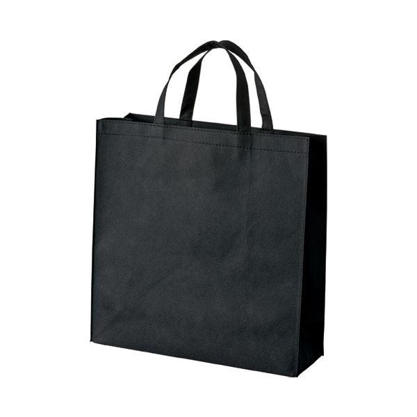 (まとめ) スマートバリュー 不織布手提げバッグ小10枚ブラックB450J-BK【×10セット】