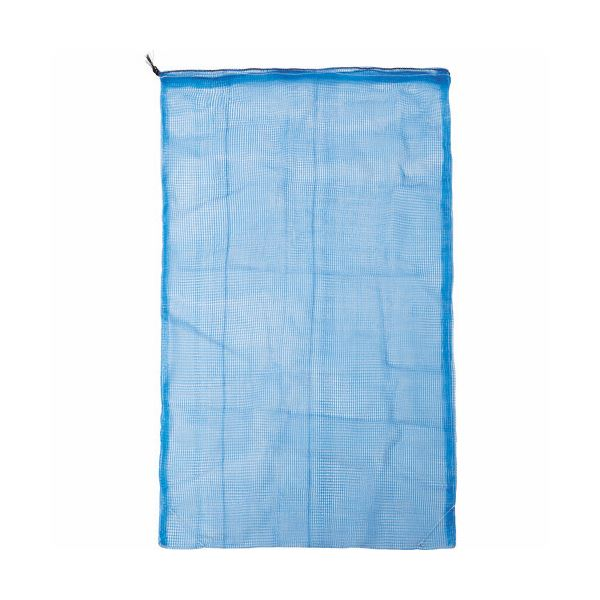 TRUSCO メッシュ回収袋100×120cm ブルー TMK-100120-50 1箱(50枚)