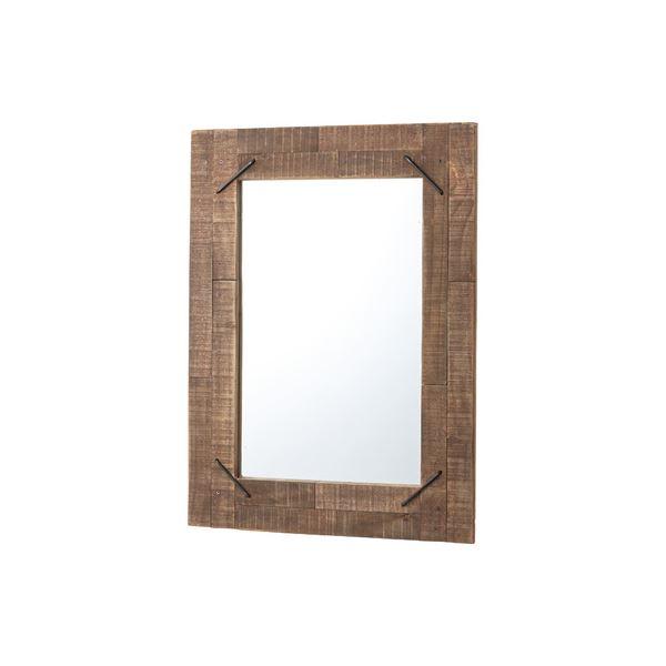 北欧風 姿見鏡/ウォールミラー 【幅58cm】 木製 アイアン 『ヒストリア』 〔ベッドルーム 寝室 玄関 リビング〕