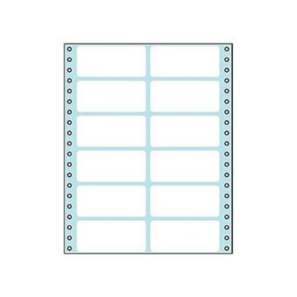 (まとめ)コクヨ 連続伝票用紙(タックフォーム)横8×縦10インチ(203.2×254.0mm)12片 ECL-215 1パック(50シート)【×5セット】
