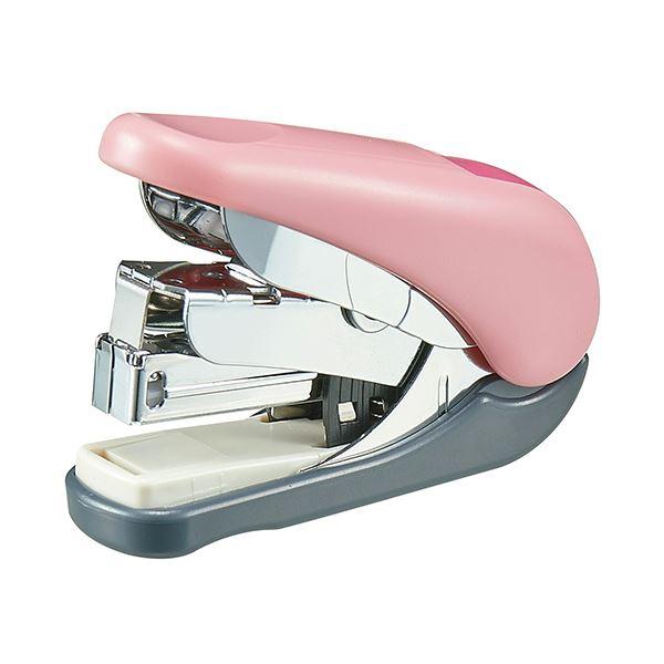 (まとめ) プラス フラットホッチキスフラットかるヒット 32枚とじ ピンク ST-010VNピンク 1個 【×30セット】