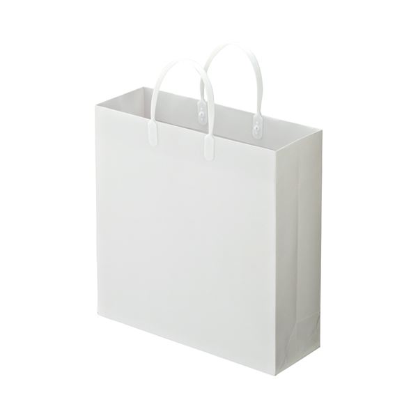 (まとめ) TANOSEE ラミネートバッグ 中ヨコ320×タテ320×マチ幅110mm 白 1パック(10枚) 【×5セット】