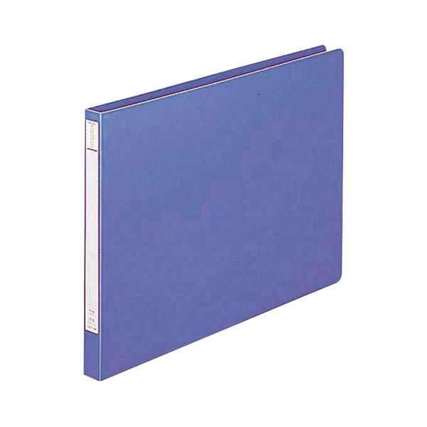 (まとめ) リヒトラブ パンチレスファイル(HEAVY DUTY) B4ヨコ 160枚収容 背幅25mm 藍 F-372 1冊 【×30セット】