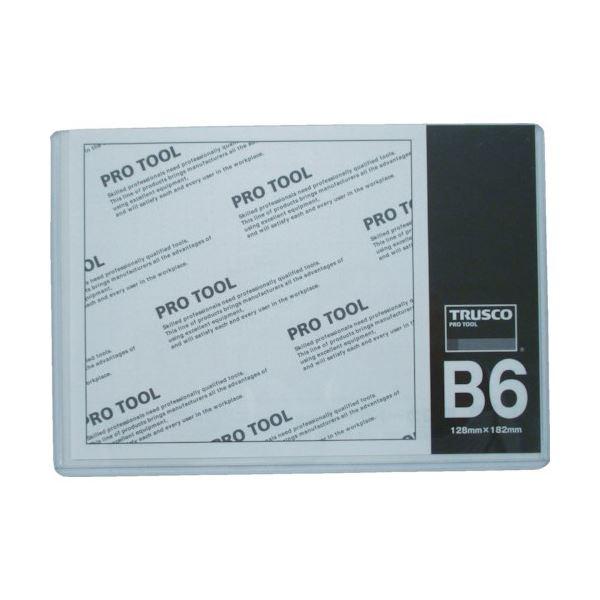 TRUSCO 【×100セット】 (まとめ) B6THCCH-B6 1枚 厚口カードケース