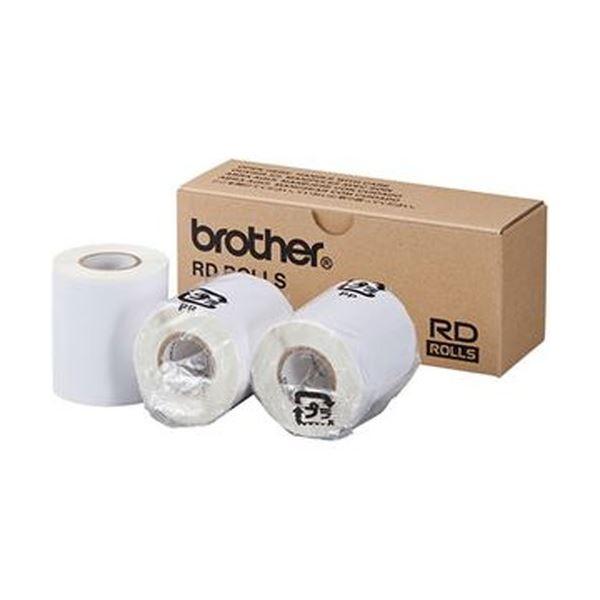 (まとめ)ブラザー RDロールプレカット紙ラベル(PDラベルB)ラベルサイズ60×92mm 112枚/ロール RD-M10J1 1パック(3ロール)【×3セット】