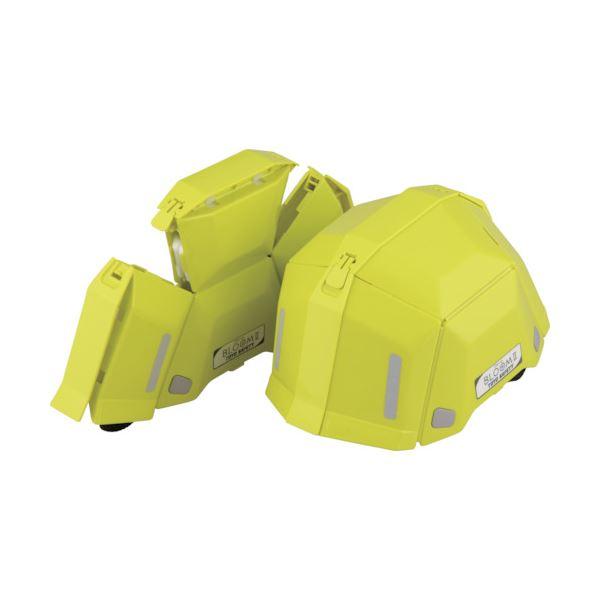 トーヨーセフティー 防災用折りたたみヘルメット BLOOM2 ライム NO.101-LM 1個