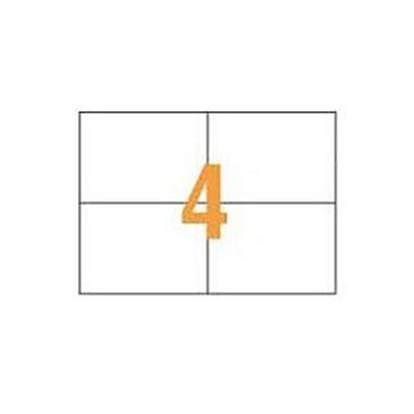 (まとめ)ライオン事務器 PPCタックラベルA4判 148.5×105mm(4片入)PPC-04A 1箱(100シート)【×3セット】
