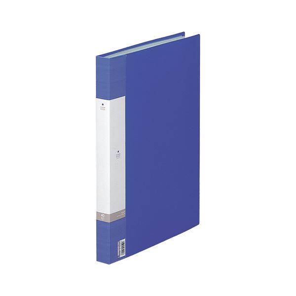 (まとめ) リヒトラブ リクエスト クリヤーブック(クリアブック) B4タテ 40ポケット 背幅32mm 青 G3212-8 1冊 【×10セット】