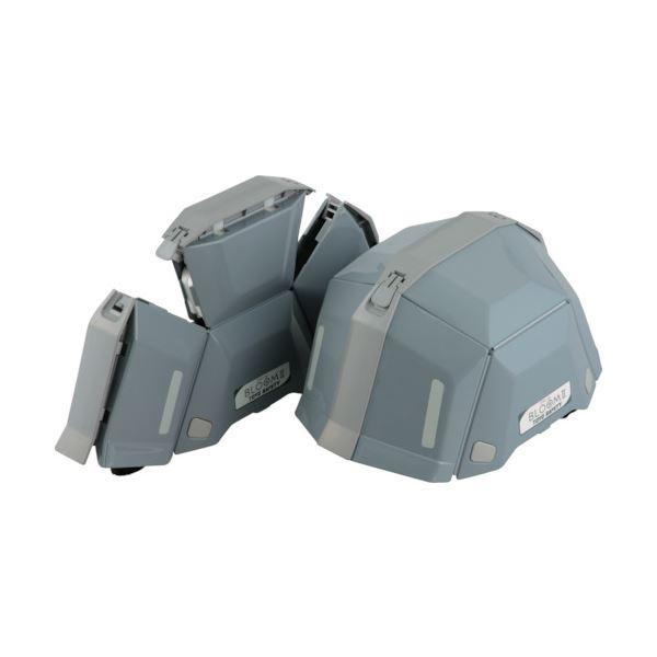 トーヨーセフティー 防災用折りたたみヘルメット BLOOM2 グレー NO.101-GY 1個