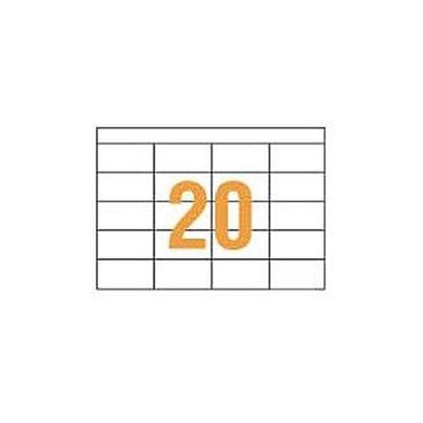(まとめ)ライオン事務器 PPCタックラベルA4判 74.3×38mm(20片入)PPC-20 1箱(100シート)【×3セット】